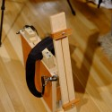 Tripod Easel and Palette Case, ready for travel, built by Spence Munsinger