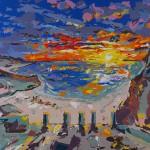 two new works, sunset, undergound