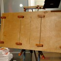 Easel Panel, all canvas clips in place ready for four canvas